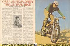 1974 Ossa 250 Explorer Trials / Trail Bike Road Test / Specs