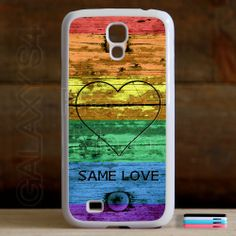 Fits Samsung Galaxy S4 Same Love Rainbow Flag Pride Case Cover Protector Heart