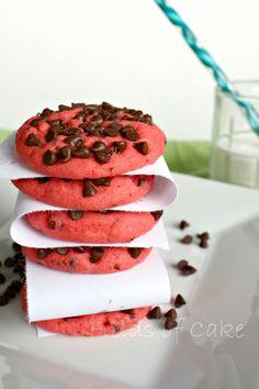 Cherry Chocolate Chip Cookies via @fieldsofcake