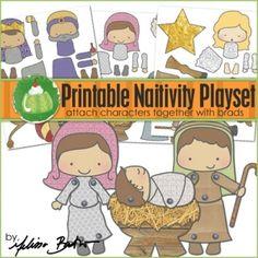 Nativity nativ play, playset, christmas goodies, christma nativ, nativ printabl, printabl nativ, nativity, christma goodi, kid