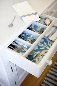 Beautify a drawer - 10 ways with wallpaper