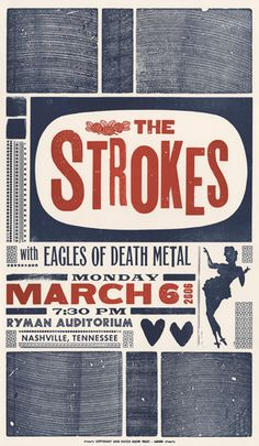 vintage posters, the strokes, the eagles, retro posters, gig poster, music posters, design elements, poster designs, concert posters