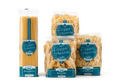 AngeliniDesign Pasta Packaging with nice, bright colors and graphics really make the pasta pop!