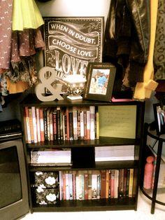 small bookshelf area