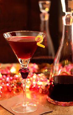 How to Make Raspberry Liqueur (Chambord) and a Raspberry Cosmopolitan.