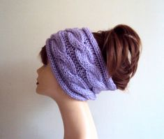 Knit Head Band Ear Warmer Cable Knit Head Band Rasta Dreadlock Head Wrap Cowl Neckwarmer Women Men Fashion Accessories Gift Ideas by GrahamsBazaar