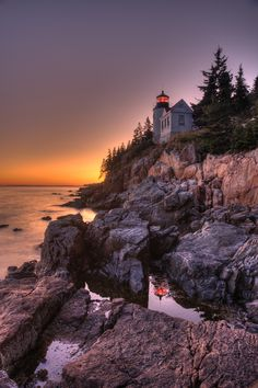 Bass Head Harbor Lighthouse.