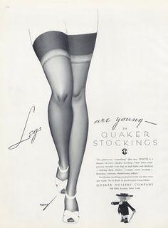 vintage stocking ads