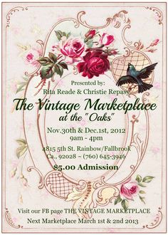 "The Vintage Marketplace at the Oaks  Nov/Dec, 2012  ""Home for the Holidays"""