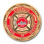 Strength Honor Service 3D Coin
