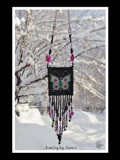 Handmade Beaded Suncatcher  Rearview Mirror by Beadwork4Sale