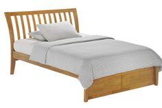oak bed, bed frames, frame oak, curv headboard, headboard bed, nutmeg platform, full bed, platform beds, bedroom set