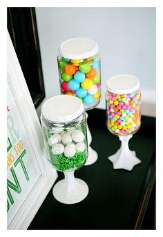 Mason jar candy jars