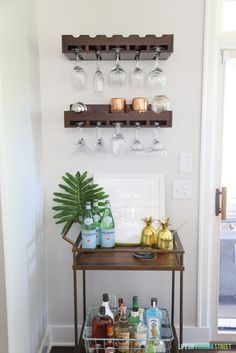 Summer Bar Cart via