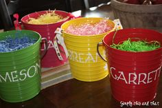 Easy Easter Baskets - so cute and easy to store!!