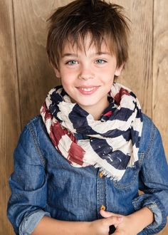 Flag print scarf #MANGOKids #FW14 #Kids