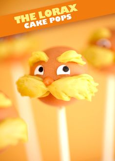 The Lorax Cake Pops by Bakerella.com