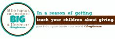 teach your children about giving this holiday: #blog4cause #weteach