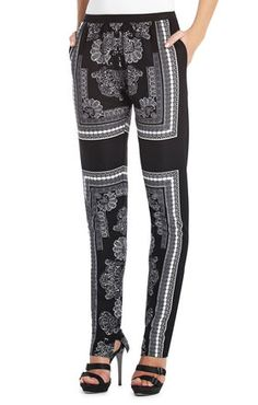 Silk printed pants.