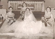 My sister on the left, Nancy; my wife's cousin, Theresa Shannon, in the middle; and my wife's sister, on the right, Mary Long. Of course, in the forefront, as always, my wife, Colette. Oct. 20, 1956