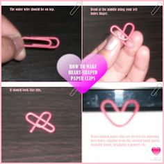 Rockbleeder: How to Make Heart-Shaped Paper Clips