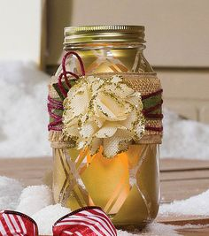 #DIY Ball Jar perfect for adding a holiday touch to your decor!
