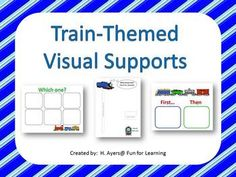 Autism: Train-themed visual supports   - Pinned by @PediaStaff – Please Visit http://ht.ly/63sNt for all our pediatric therapy pins