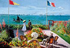 "Puzzle EDUCA ""Terraza en Sainte-Adresse, Claude Monet"", 2.000 piezas."