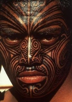 The Maori of New Zealand carve designs into their skin using bone chisels, then fill them in with ink.