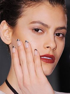 Bold and Bright Summer Nails: French manicures with silver or gold tips