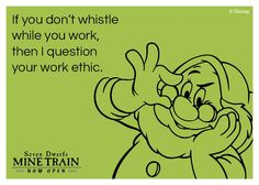 Seven Dwarfs Mine Train e-card from Walt Disney World