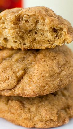 Apple Butter Snickerdoodles Recipe ~ they're a sweet Fall twist on an old favorite cookie!
