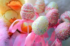 easter egg cake pops!