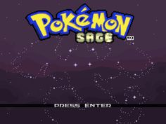 Pokemon Sage: a fan made Pokemon game. This looks amazing and I can't wait to download the demo when I get home!