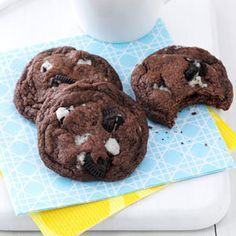 Quadruple Chocolate Chunk Cookies Recipe from Taste of  Home -- shared by Jeff King of Duluth, Minnesota