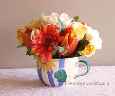 Warm & colorful perfect for a breakfast flower arrangement
