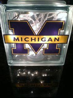 michigan light, light block, decorated glass block lights