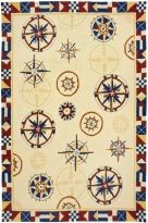BY HOMEFIRES RUGS Coastal Lakefront AR-HF030 Compass / POLYPROPYLENE / HOOKED / $68.99 22 X 34 /// $136.99 3 X 5 /// $209.99 28 X 90 /// $366.99 5 X 7 /// $760.99 8 X 10 ///