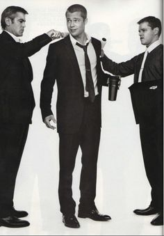 Clooney, Pitt & Damon