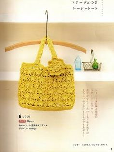 Pretty yellow bag with diagram