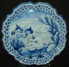 Antique Cantagalli Plate Plaque Italian Pottery Putti Majolica Signed 19th C   eBay