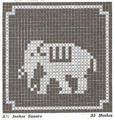 FREE animal cross stitch or filet crochet patterns!