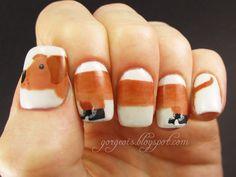 Doxie nail art