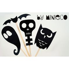 Halloween shadow makers via @minieco #Halloween #crafts #DIY #kids