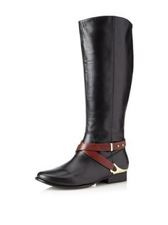 Elaine Turner Women's Murray Tall Boot (Black/Cognac)