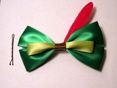 Peter Pan hair bow Disney Inspired.