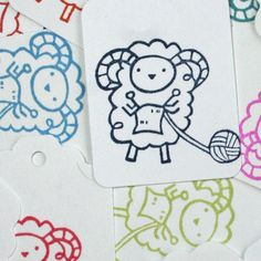 Knitting Sheep Tag - perfect for knitted/crocheted items - Gifts for Knitters - Gifts for Crocheters