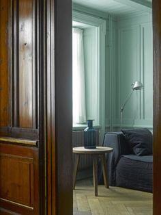 colour, house tours, interior design, houses, colors, grey paint, chalets, little space, painted walls
