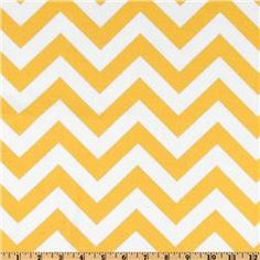 Premier Prints ZigZag Slub Yellow/White $8.49