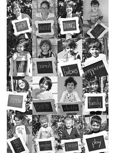 How sweet are this students' declarations of their favorite things? With a chalkboard, a willing photographer, and some bubbly kids, you can easily recreate Gemma's class auction project. Source: Pretty in Chaos
